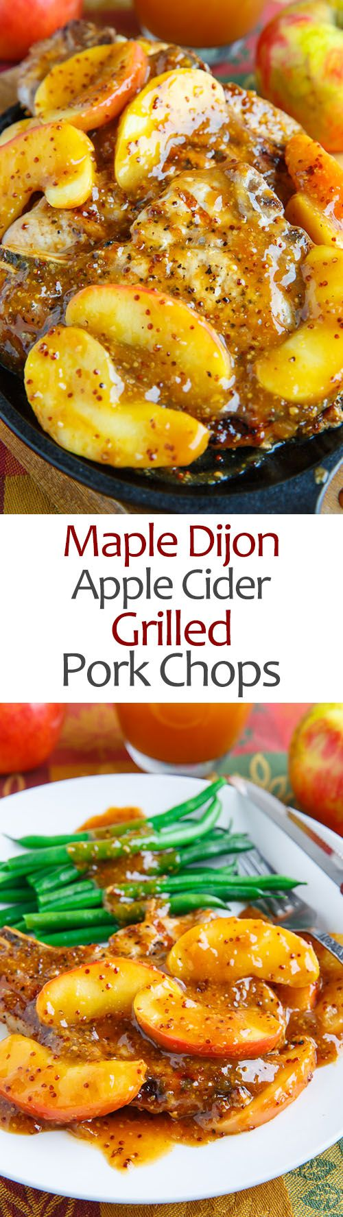 Maple Dijon Apple Cider Grilled Pork Chops