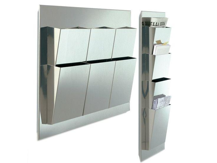 Stainless steel magazine rack FINDER by DE PADOVA | design Xavier Lust