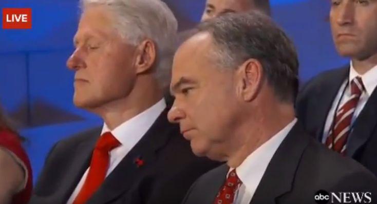 Conservative media mocks video of Bill Clinton dozing during wife's speech #Politics #iNewsPhoto