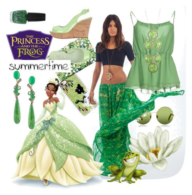 """""""Tiana summertime"""" by kiara-ik ❤ liked on Polyvore featuring Casetify, Oscar de la Renta, Victoria, Victoria Beckham, Dancing Leopard, Imperial, Le Silla, Lydia Courteille, Danielle Stevens and OPI"""