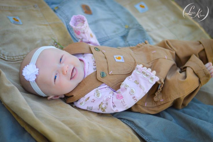 baby girl carhartt bibs fathers day picture photography