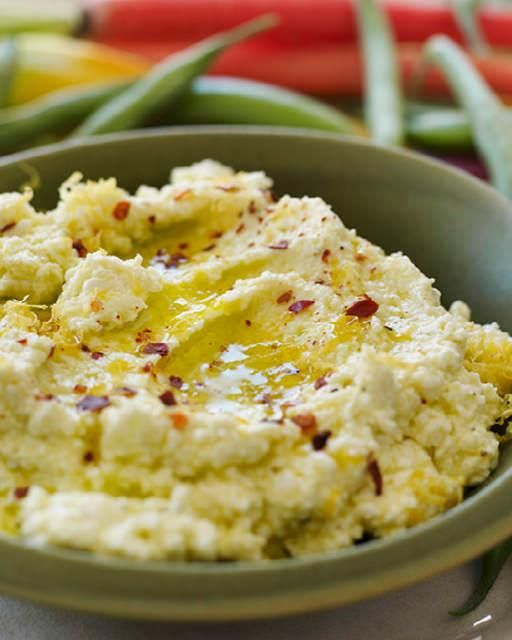 Sweet Paul's Famous Feta & Lemon Dip! - One of the simplest recipes ever. Just a few ingredients, 2 minutes in the food processor, and voila, you have the most amazing dip. I've even used it as a topping for baked chicken or white fish. #SweetPaul
