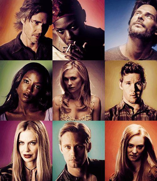 Sam, Lafayette, Alcide, Tara, Sookie, Jason, Pam, Eric, Jessica