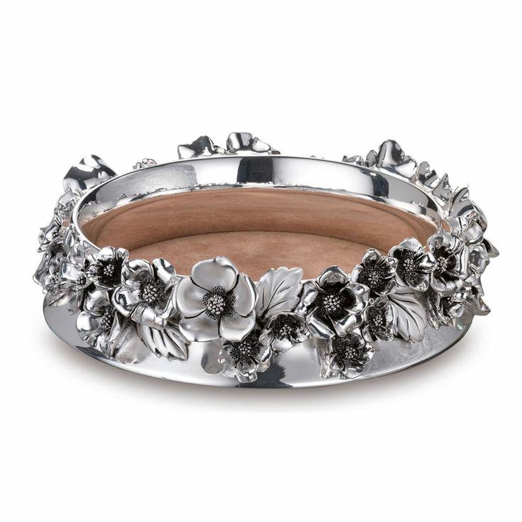 Vuota tasche Sovrani  in argento con splendide decorazioni floreali - Sovrani silver pocket emptier Daisy