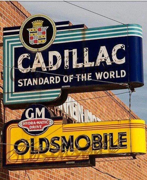 Cadillac Oldsmobile sign