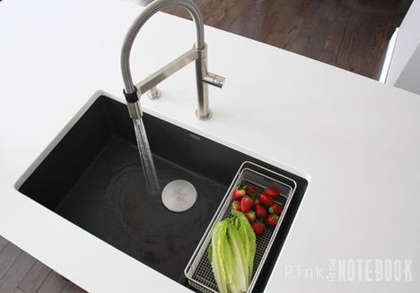 "A few months ago on my facebook page, I asked the question: ""What is your kitchen sink preference? double or single""? These were the results: 81% double ""They love the functionality"" 19% single ""They couldn't resist the sleek look"" When it comes to kitchen sinks, I've always owned the typical stainless steel double bowl sink. Like many love-hate relationships, I had my fair share of ups and downs with my previous owned sinks. Here's the thing. According to my husband, me washing the dishes…"