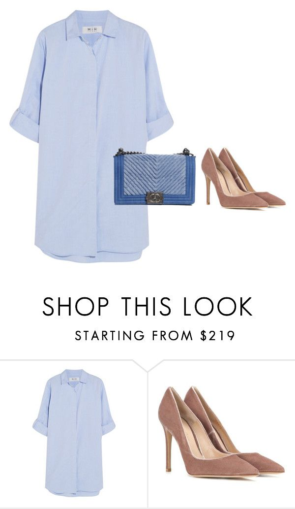 """Simple Summer Lunch Outfit"" by victoriaandersen ❤ liked on Polyvore featuring MiH Jeans, Gianvito Rossi and Chanel"