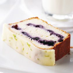 Blueberry Lime Loaf With White Chocolate Lime Glaze