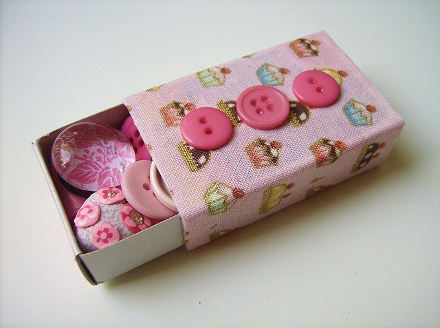 Buttons in a box.