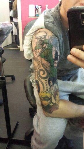 Naruto tattoo half way finished | tattoos | Naruto tattoo ...