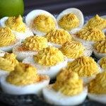 This recipe for deviled eggs comes from Cooks Illustrated and it is the best recipe I've ever had. They even teach how to make the perfect hard boiled egg