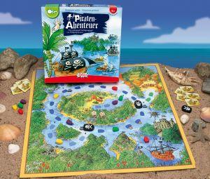 SOS Pirates! Het is de bedoeling om zo snel mogelijk alle boten op het thuiseiland in veiligheid te brengen. Alle spelers spelen samen. Je overlegt allen welke weg je zal nemen en welke boot je zal verplaatsen. De speler die aan de beurt is kiest zelf wat hij uiteindelijk zal doen. Zorg dat je eigen boot of dat van je medespelers niet in bezit wordt genomen door de zwarte piratenschepen. Als een zwarte boot je op de hielen zit, kun je schuilen in de veilige havens.