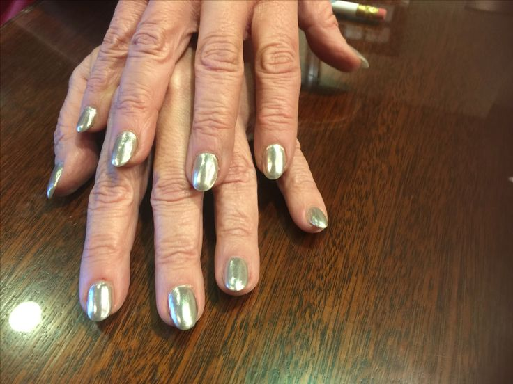 One of the hottest trends is metal nail polish. Beach Plum Spa on Cape Cod