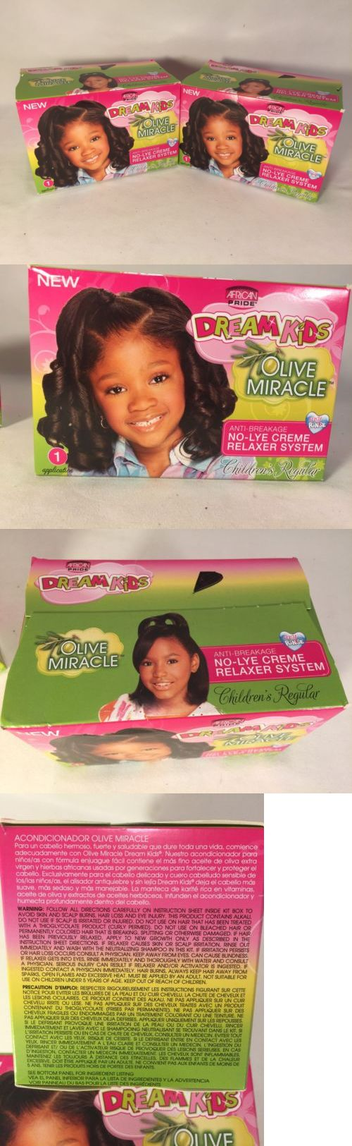 Perms: 12 Boxes Of Dream Kids Olive Miracle Anti-Breakage No-Lye Creme Relaxer Regular -> BUY IT NOW ONLY: $42 on eBay!