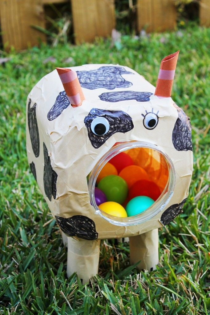Bully the Ball Catching Bull Cow: A Free Upcycled Project | Simply Home Blog