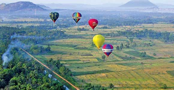 Sri Lanka hot air ballooning