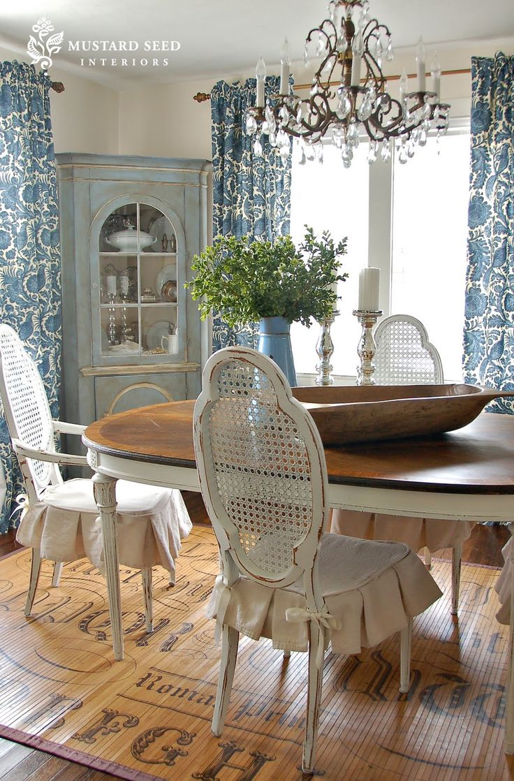 Ideas for updating dining room table and china cabinet