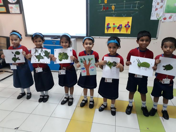 In every change,in every falling leaf there is some beauty.Grade LKG students enjoyed creating unique things out of leaves.