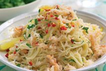 Angel hair pasta with crab, chilli and parsley – Recipes – Slimming World
