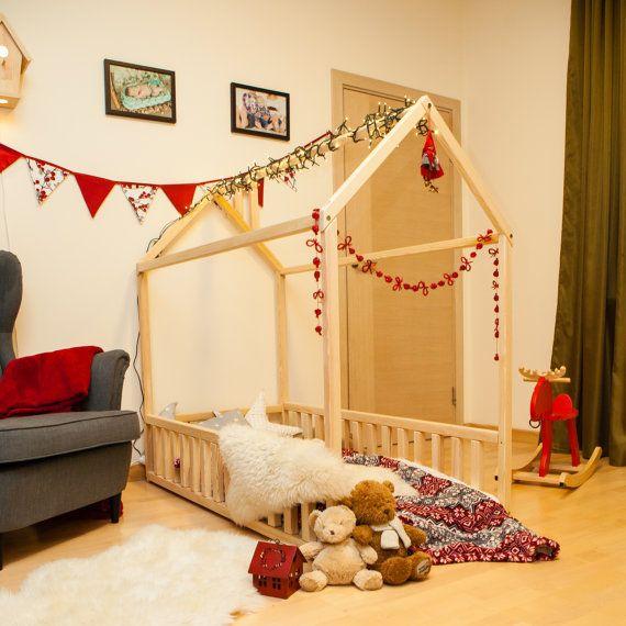 lit de bébé 140 x 70 ou 90cm lit cadre tipi par SweetHOMEfromwood
