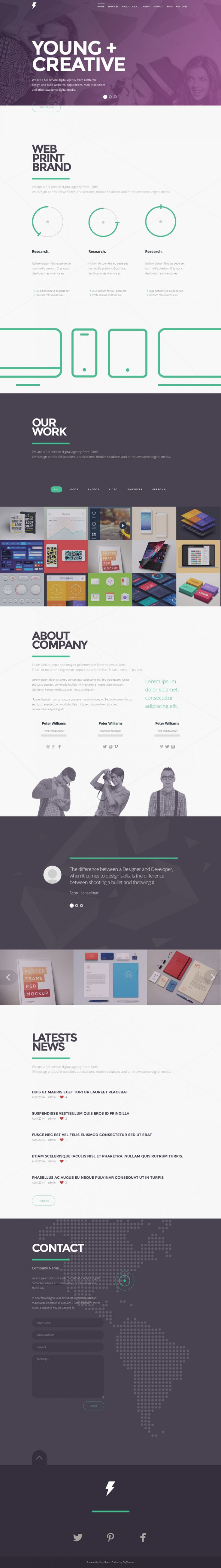 SENSA is simple and clean one page portfolio WordPress theme.