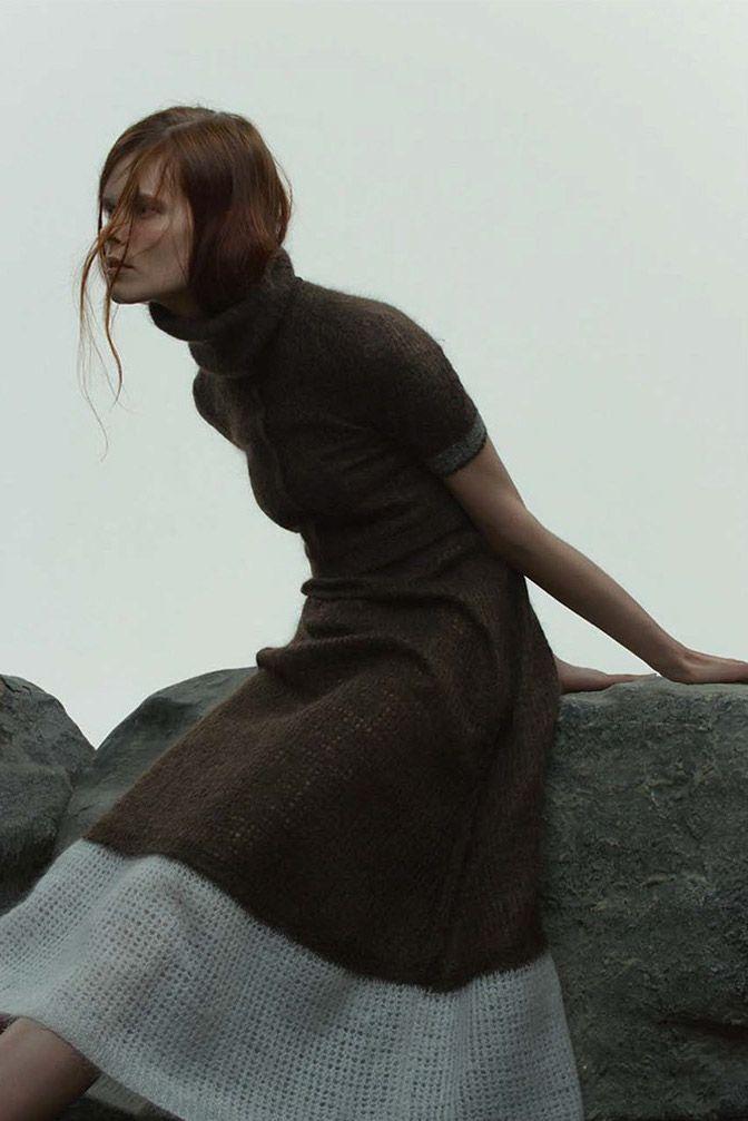 Irina Kravchenko by Paul Jung for Bon Magazine, Autumn/Winter 2014 #wool #dress
