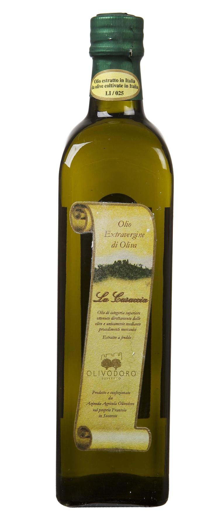 Olio extra vergine d'oliva toscano La Casaccia - Extra virgin olive oil La Casaccia. Olivodoro.