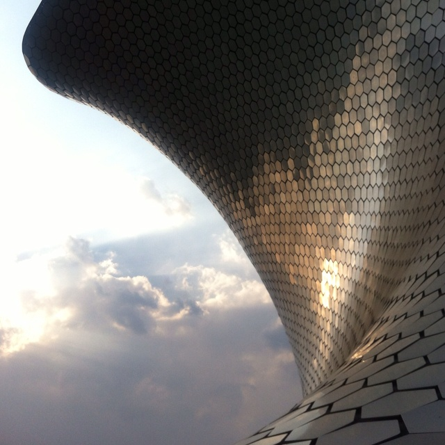My photo of Mexico City's Soumaya Museum. The collection pales in comparison to the building.