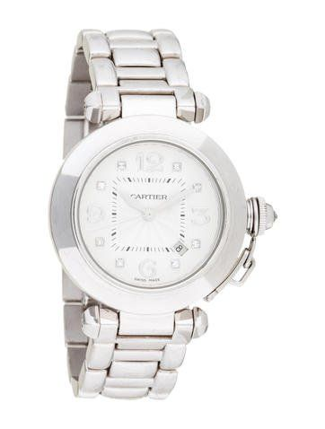 Cartier Pasha Watch, 32mm, 18k white gold, ~retail$24,000 sale$7,196