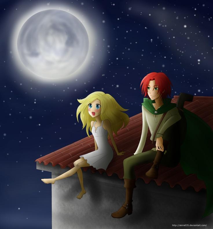 Auri And Kvothe Moonlight Encounters By Akira035 The Kingkiller Chronicles Book Art Fantasy Art