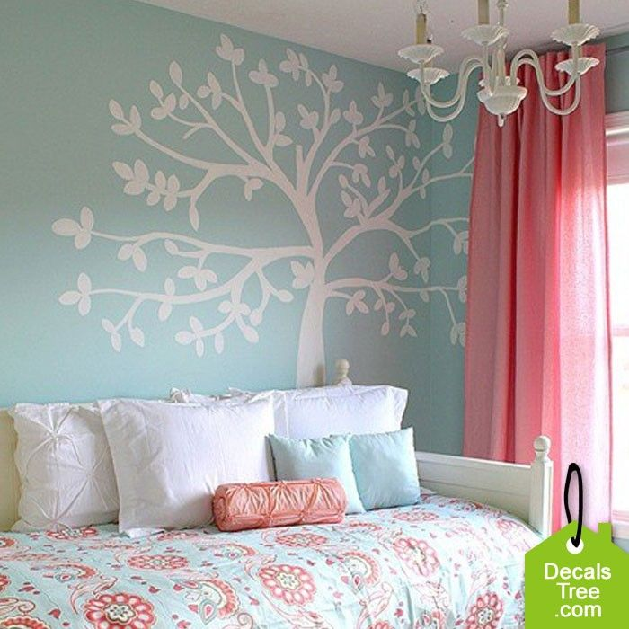 Waterproof Large White Tree Wall Decal