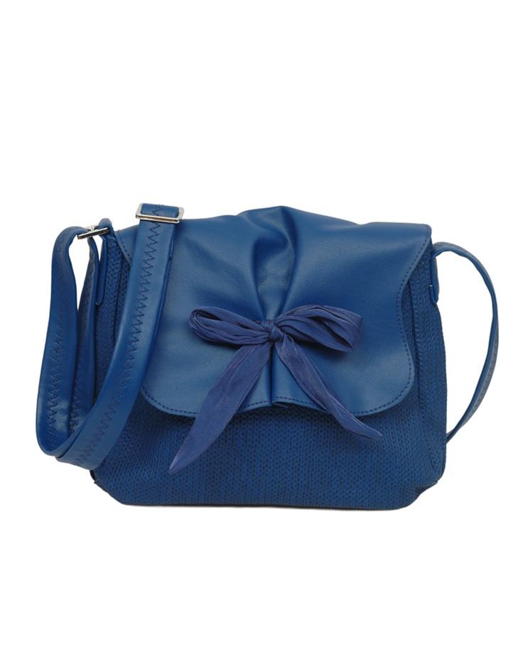 A fun bold sling in aqua blue by Baggit.