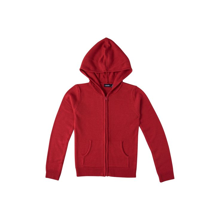 Girls 4-16 Chaps School Uniform Hooded Sweater, Girl's, Size: 12-14, Red Other