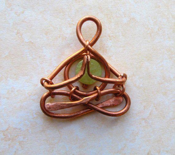 Little Jade Yogi pendant  meditating in Lotus  by lemuriandiamond, $30.00