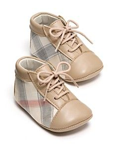Burberry baby shoes- love that they are gender neutral
