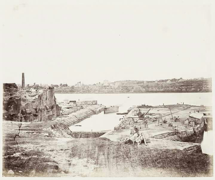Cockatoo Island dry dock in Sydney in 1872.A♥W