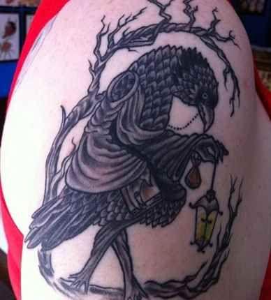 Black Crow Shoulder Tattoo - Tattoo Shortlist