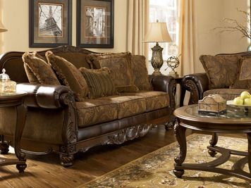 Fresco Durablend Antique Bonded Leather Accent Chair | Ashley | Home  Gallery Stores
