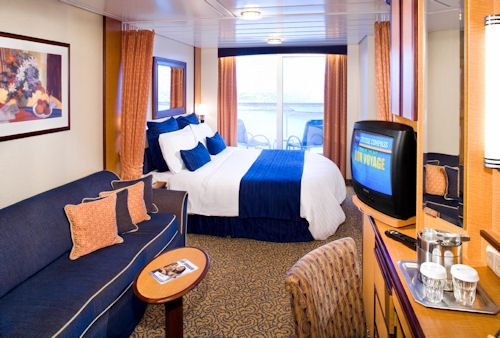 Balcony cabin on royal caribbean 39 s radiance of the seas for Alaska cruise balcony room
