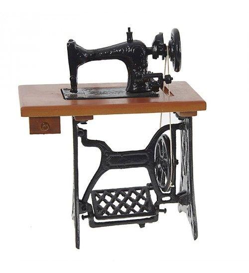 METAL SEWING MACHINE IN BROWN COLOR 20Χ11Χ23
