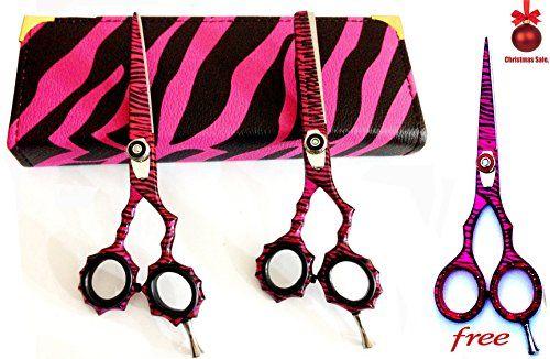 New Pink Zebra J2 High Quality Japanese Steel Professional Razor Edge Hairdressing Scissors and Hair Thinning Scissors/shear Set 5.5 Inch (14cm)+ Free Pink Zebra Barber Shear  //Price: $ & FREE Shipping //     #hair #curles #style #haircare #shampoo #makeup #elixir