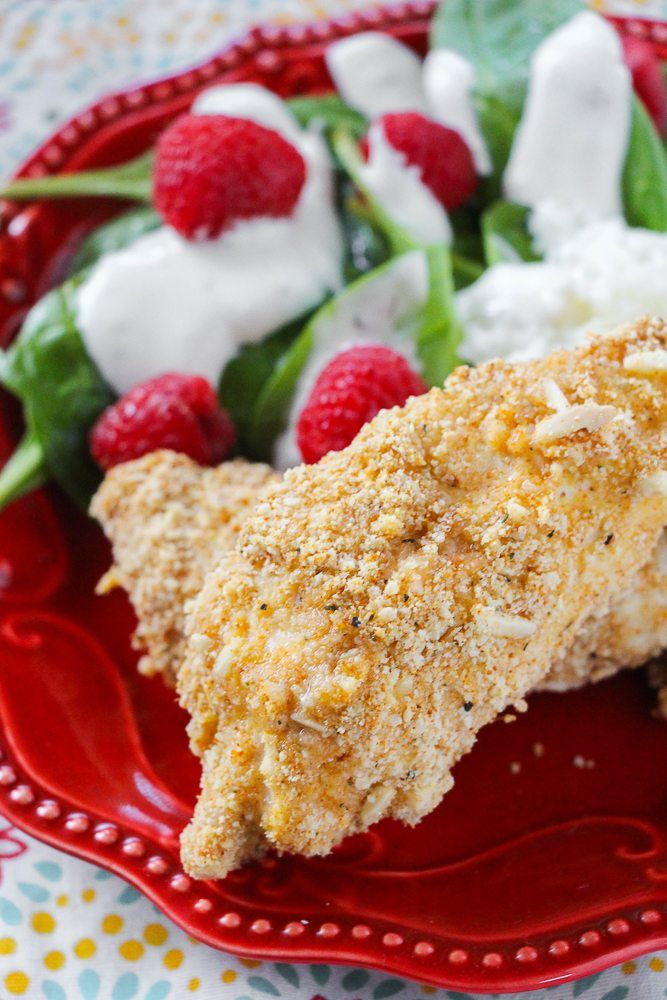 Healthy Almond Crusted Chicken Recipe