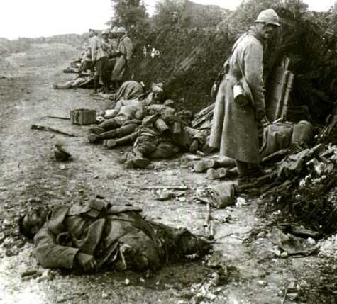 Most trenches were very small and tight living quarters. Soldiers would be sleeping with their recently fallen comrads.