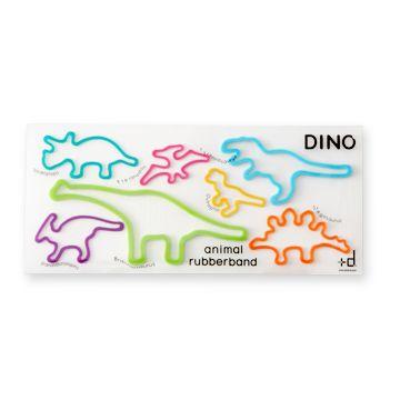 +d/アニマルラバーバンド DINO 630yen 使っても、使っても、元の形に戻る輪ゴム