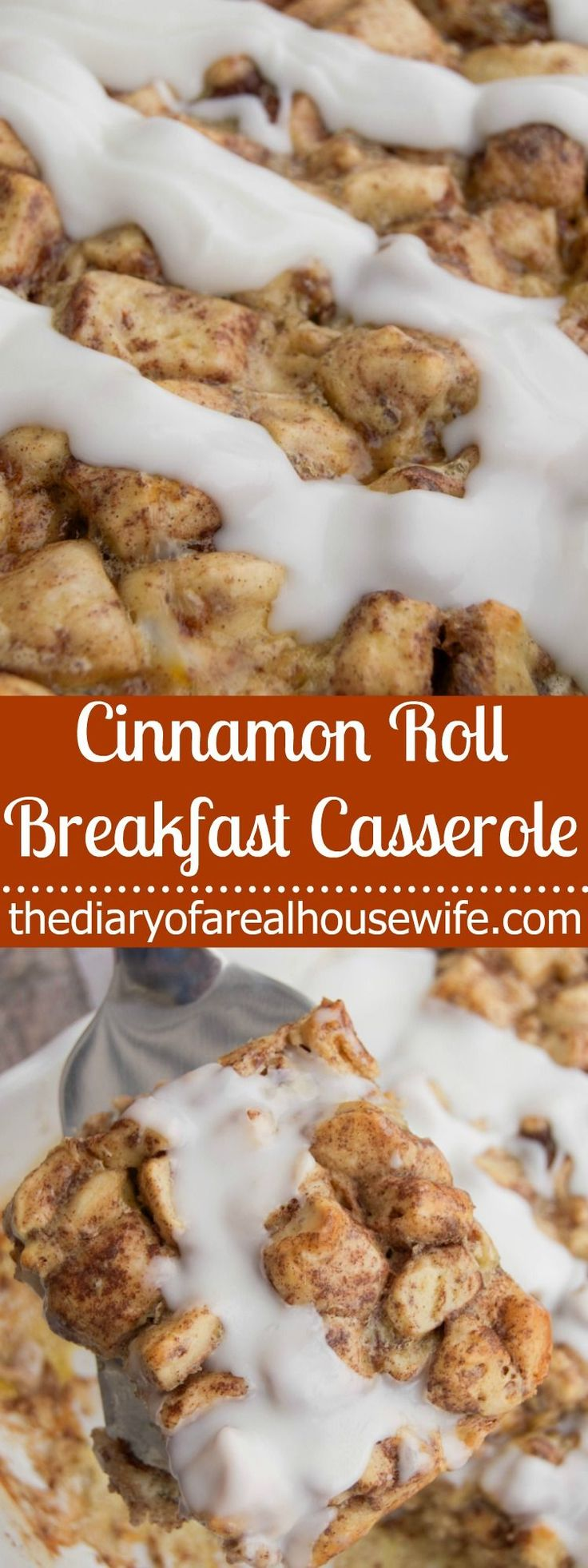 Cinnamon Roll  Breakfast Casserole. This is what I served on Christmas morning last year! SO GOOD!