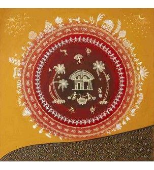 Circle of Life Warli Painting