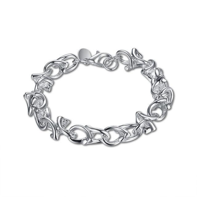 H042 2017 новая мода 925 серебряных браслет небольшие симпатичные дерево ссылки толстые цепи браслет для женщины мужчины ювелирные изделия