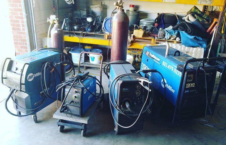 If it's not blue you are doing it wrong @miller_welders. #803Iron #millermatic211 #millermatic251 #MillerTrailblazer #miller350p #millerwelders #welding #fabrication #steel #weldingshop #ColumbiaSC #ineedmoreblue #nowificouldjuststaffthem