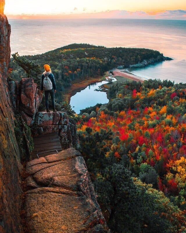 The Beehive Trail at The Acadia National Park