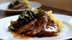 Braised & Fried Tempeh with Madeira (Wine) Sauce